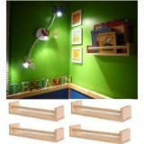 Ikea Bekvam Regalbrett-Set, für Bücher/Kinderzimmer/Küche etc., mit Querstange, Birkenholz, 3x4 Stück