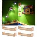 3 Ikea Bekvam - 3 Portaspezie in betulla massiccia, da utilizzare anche come portalibri per bambini, mensola per cucina o bagno