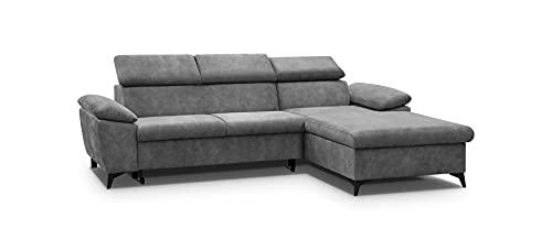 Ecksofa mit Schlaffunktion mit Bettkasten Sofa Couch L-Form Polstergarnitur Wohnlandschaft Polstersofa mit Ottomane Couchgarnitur (274cmx192cmx86cm)-Lorin...