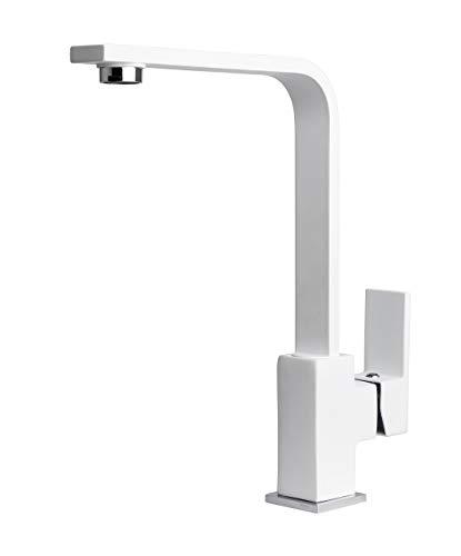 Wasserhahn Küche Küchenarmatur Spültischarmatur Mischbatterie Schwenkbar 360° Drehbar Einhebelmischer Armatur für Spüle von Primagran Weiß