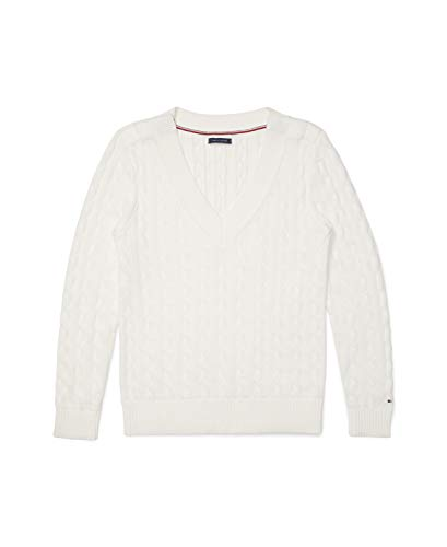 Tommy Hilfiger Women's Adaptive Classic Sweater with Velcro Brand...