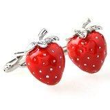 Global Accessorie en Acier Inoxydable de Mode Strawberry Lien Manchette Manchette dans Une boîte Cadeau