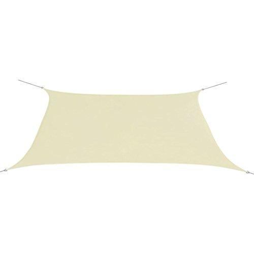 vidaXL Voile d'Ombrage Tissu Oxford Rectangulaire 2x4m Crème Parasol Solaire