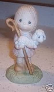 Precious Moment Figurine: We Have Seen His Star. Boy Holding Lamb