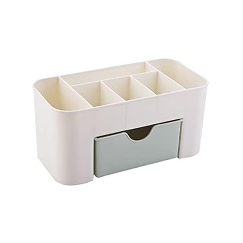 Gamssdllsszh Joyero Grande, Caja de clasificación Caja de Almacenamiento cosmético Caja de tocador Mesa de Escritorio Cuidado de la Piel de plástico Producto Caja de Acabado (Color : Green)