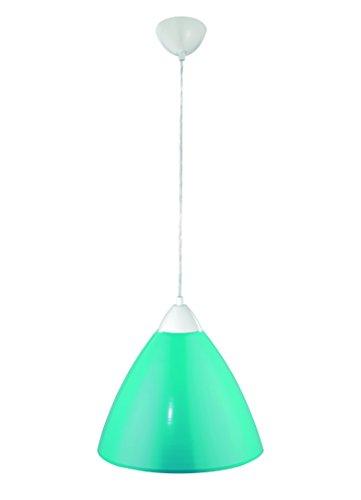 Pendelleuchte BISTRO Hängeleuchte Lampe Leuchte Strahler Bunt Rund Metallschirm türkis ∅35cm FLI 216631