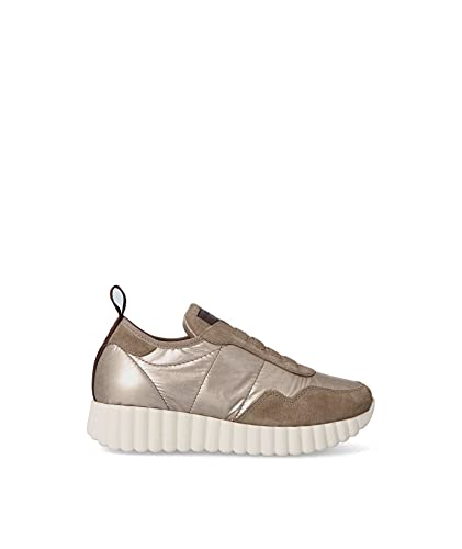 WEEKEND by Pedro Miralles - 27027 Humo - Zapato Casual, Deportivo, con Plataforma, cordón elástico, Suela de Goma, para: Mujer Color: Humo Talla:39