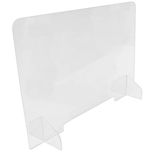 Clear Reception Protective Acrylic Sneeze Guard Panel with 1.5' Tall Opening (23.5' Tall x 23.5' Wide)