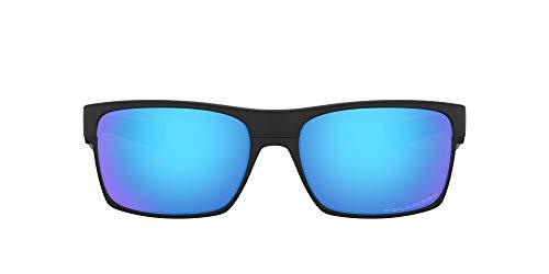 Oakley Twoface Gafas de sol, Rectangulares, Polarizadas, 60, Negro