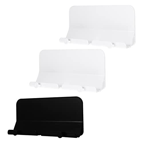 OSALADI Soporte Adhesivo para Tablet para Teléfono Móvil Montado en La Pared Cargador de Bolsillo para Mesa de Teléfono Móvil Almacenamiento a Control Remoto 3 Piezas