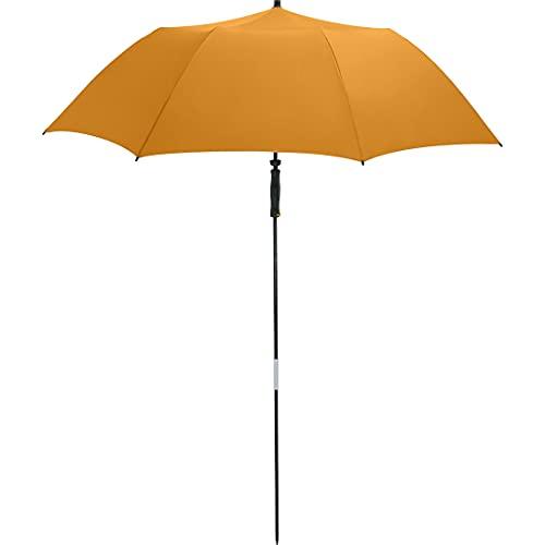 FARE Reise-Sonnenschirm Travelmate Camper UV Schutz 50+ TÜV-Zertifikat für Koffer Flugzeug Camping Balkon Strand Garten (Orange)
