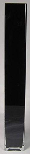 INNA-Glas Bodenvase Leon, Quader - viereckig, schwarz, 10x10x70cm - Eckige Vase - Deko Vase