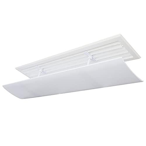 BCGT Climatizzatore Vento deflettore Air  Condizionatore Vento Deflettore Air Guida Air Cover Anti Direct Blowing Baffle ad Angolo Regolabile (Color : White, Size : 74×19cm)