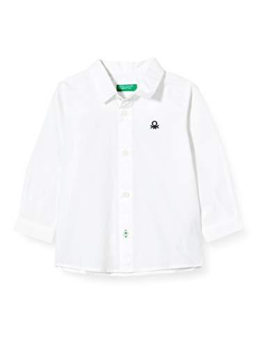 United Colors of Benetton (Z6ERJ) Jungen Camicia Hemd, Weiß 101, 82