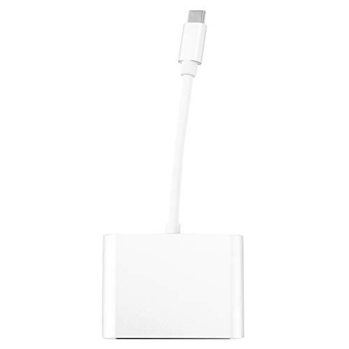 Mogzank USB C A HDMI + VGA, USB Tipo C (Compatible con 3) A 4K + VGA Adaptador, Compatible Pro/Chromebook/XPS 13 / Yoga 91, Blanco