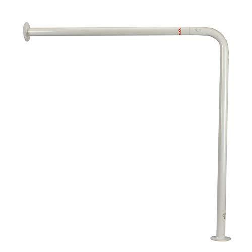Homecraft Ringwood Wall to Floor Grab Rail, Curved Grab Bar for Toilet, Shower, or Bathtub, Secure Railing for Elderly & Handicapped, 30