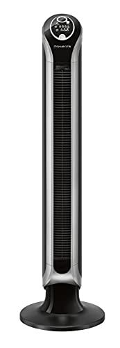 Rowenta VU6670 Eole Infinite Turmventilator,100 cm, 3 Geschwindigkeitsstufen und Auto-Funktion, Timer, Raumtemperatur-Anzeige, leise, schwarz Bild