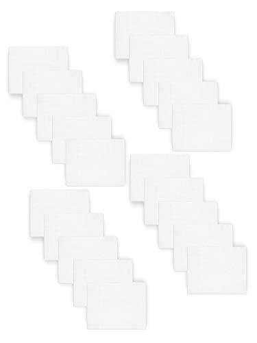 Be Mammy Paquete de 20 Conjuntos de Pañales para Bebés 80x80 cm BESD001 (Blanco (20 Pack), 80x80)