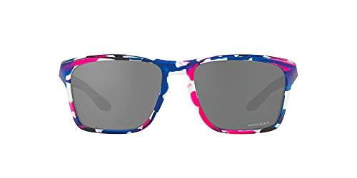 Oakley Gafas de sol rectangulares OO9448 Sylas Collection para hombre, Kokoro/Prizm Negro, 57 mm