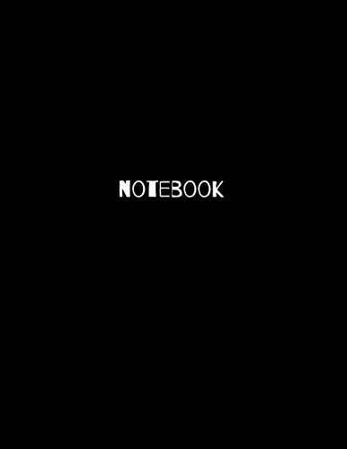 Black Notebook 160 White Pages 8.5*11 inch: simple black cover notebook Blank Drawing NoteBook 160 pages