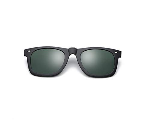 JIUPO Polarizado reflejado lentes clásico gafas de sol Gafas con clip Protección uv,para conducción/pesca/esquí/deporte, Unisexo