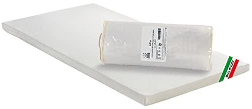 Baby Nana Colchón de fibra termosellada para cuna de bebé, tejido antiácaros Clean&Fresh, 60 x 120 x 5 cm