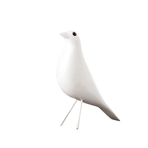ZLBYB Dekoration Skulptur-Modern minimalistischen skandinavischen Stil Keramik Vogel Ornamente Hauptdekorationen Handwerk Figuren Keramik Vögel Hochzeitsgeschenke (Color : A)