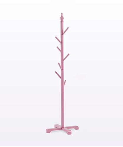 Kapstok Floor Standing Hat kapstok for kinderen Hanger met 7 haken Cross Base, 5 kleuren leverbaar hangers (Color : Pink)