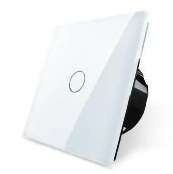 Luxus-Time Lichtschalter 1 Weg Weiß Glas VL-C701-11