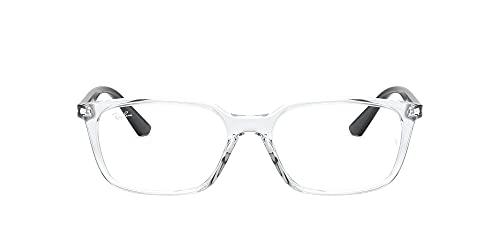 Ray-Ban Rx7176 Gafas, Transparent, 52 Unisex