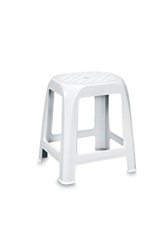 Stefanplast Sgabello in plastica per Il Bagno, cm 41x35x46h