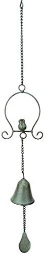 HZWLF Retro Wrought Iron Hanging Chime Garden Home Trust excellence Wind Jewelry