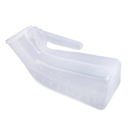 MWJRBD Los urinarios a Prueba de Fugas para Hombres Son Gruesos portátiles estables y duraderos de plástico Transparente rentable con Escala Blanca