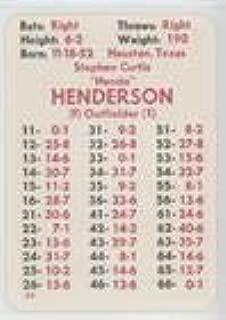 Steve Henderson (Baseball Card) 1981 APBA Baseball 1980 Season - [Base] #STHE