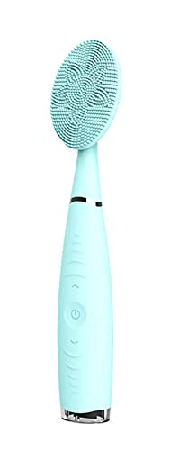 Cepillo De Limpieza Facial USB, Silicona Impermeable A Prueba De Agua Limpiador De Poros Masajeador De Piel Cepillo De Limpieza De Cara,Azul