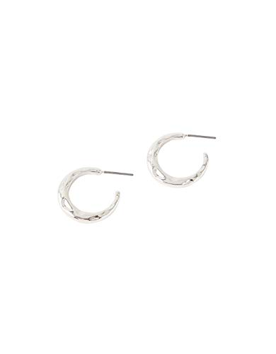 Accessorize Small Textured Hoop Earrings