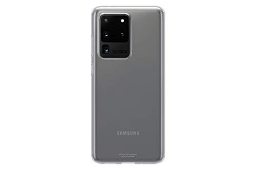 Samsung Clear Cover Smartphone Cover EF-QG988 für Galaxy S20 Ultra Handy-Hülle, extra-dünn & griffig, Schutz Hülle, durchsichtig, transparent