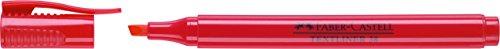 Faber-Castell 157721 - Caja con 10 marcadores fluorescentes Textliner 38, color rojo