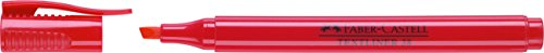 Faber–Castell–marcadore evidenziatori textliner 38 rosso, 10 Pezzi