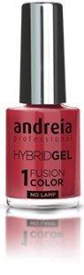 Andreia professionele hybride gel nagellak - 2 stappen en geen lamp nodig Langdurige en eenvoudige verwijdering - Fusion Color H41 Coral Tan |Tinten roze en rood