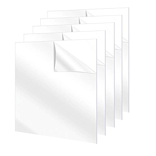 5Pcs 5 x 7' Clear Acrylic Plastic Sheets for Picture Frame Clear Plexiglass Sheets for Windows, Craft, Signs, DIY Display Projects, Painting