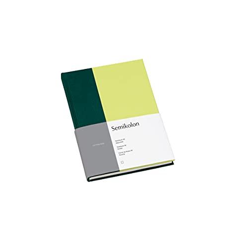 Semikolon (364843) Notizbuch A5 Cutting Edge dotted Forest - Kiwi mit Bucheineneinband, 172 FSC-zertifizierte Seiten Elafin-Papier und Lesezeichen
