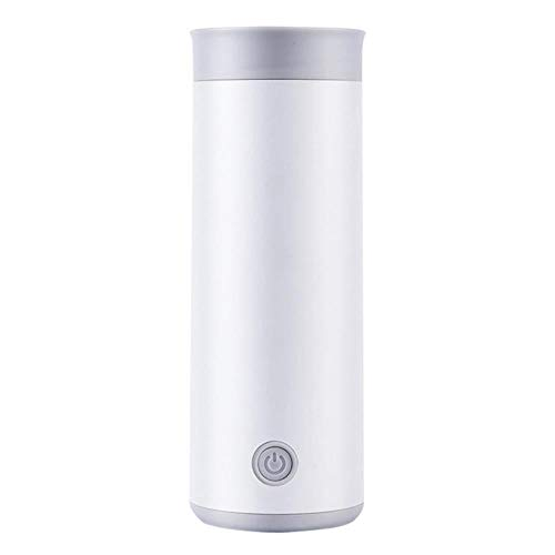 water kettle/water boiler kettle electric/Builtin Heating FilmKettle Travel Electric Water Mini Portable Thermos Smart Teapot Heating Cup Milk Boiling Boiler Stainless Steel Metal Bottle red