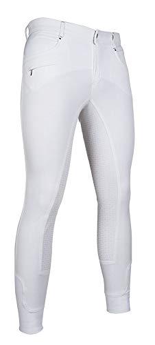 HKM volwassene heren-rijbroek San Lorenzo-Silicon-volledig bezet 1200 wit46 broek, 1200 wit, 46