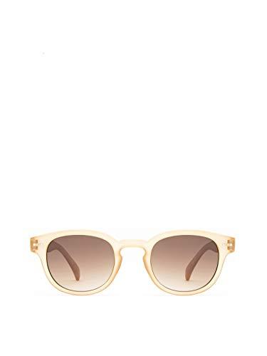 OLO LUNETTES Mod. R2 Gafas De Sol Lentes Gradientes Marrón UV400 Unisex Amarillo