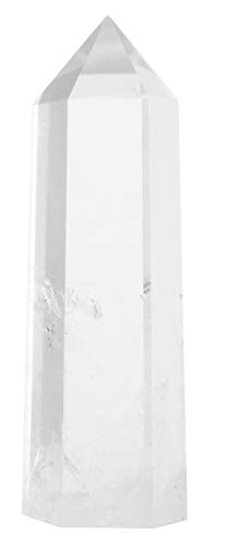 Luckeeper Healing Crystal Wands 2″ Clear Quartz Crystal Obelisk | Polished 6 Faceted Reiki Chakra Meditation Therapy