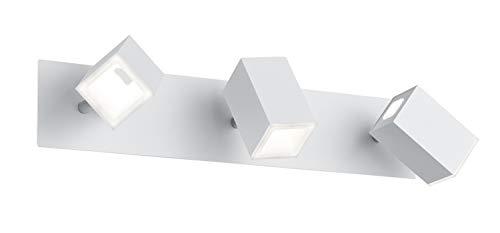 Trio Leuchten LED Strahler Lagos 827890331, Metall, Weiß matt, 3 x 6 Watt, Switch Dimmer