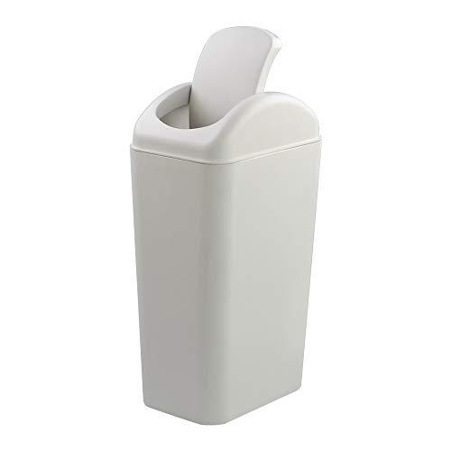 Readsky 14 Litre Plastic Indoor Dustbin Trash Can, Light Grey, 1 Pack