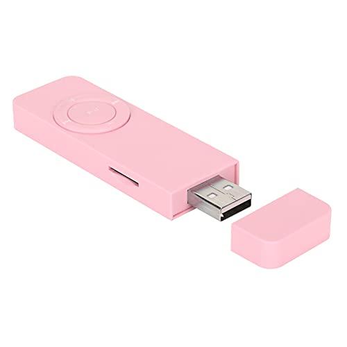 Shanrya Reproductor De MP3, Reproductor De Música MP3 Reproductor De MP3 Multimedia Portátil con Cordón para Exteriores para El Hogar para Escuchar Música(Rosado)