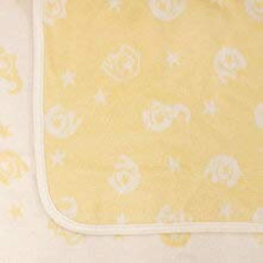 沿ってピアニスト気を散らす【HanzamCocoa】日本製 ひなたぼっこ 綿毛布 しっかり厚手 ハーフサイズ キッズ&ベビーサイズ 100×140cm ゾウ柄カメオクリーム